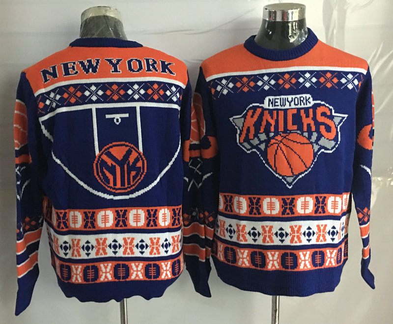 New York Knicks Crew Neck Men's Ugly Sweater