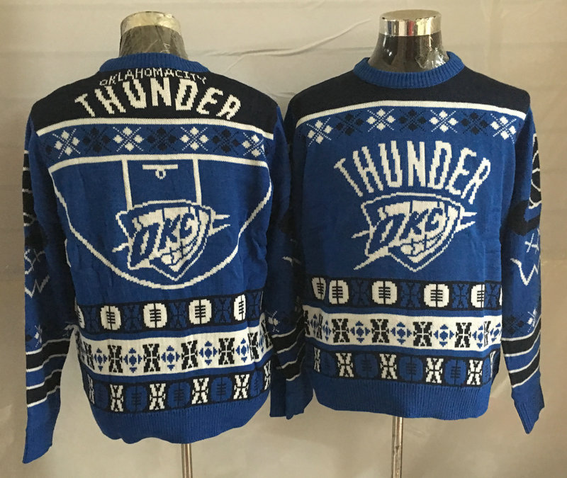 Oklahoma City Thunder Crew Neck Men's Ugly Sweater