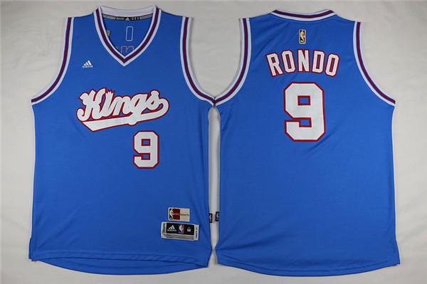 Kings 9 Rajon Rondo Light Blue Swingman Jersey