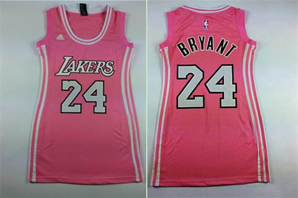 Lakers 24 Kobe Bryant Pink Women Jersey