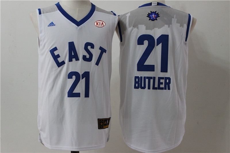 Bulls 21 Jimmy Butler White 2016 All Star East Jersey