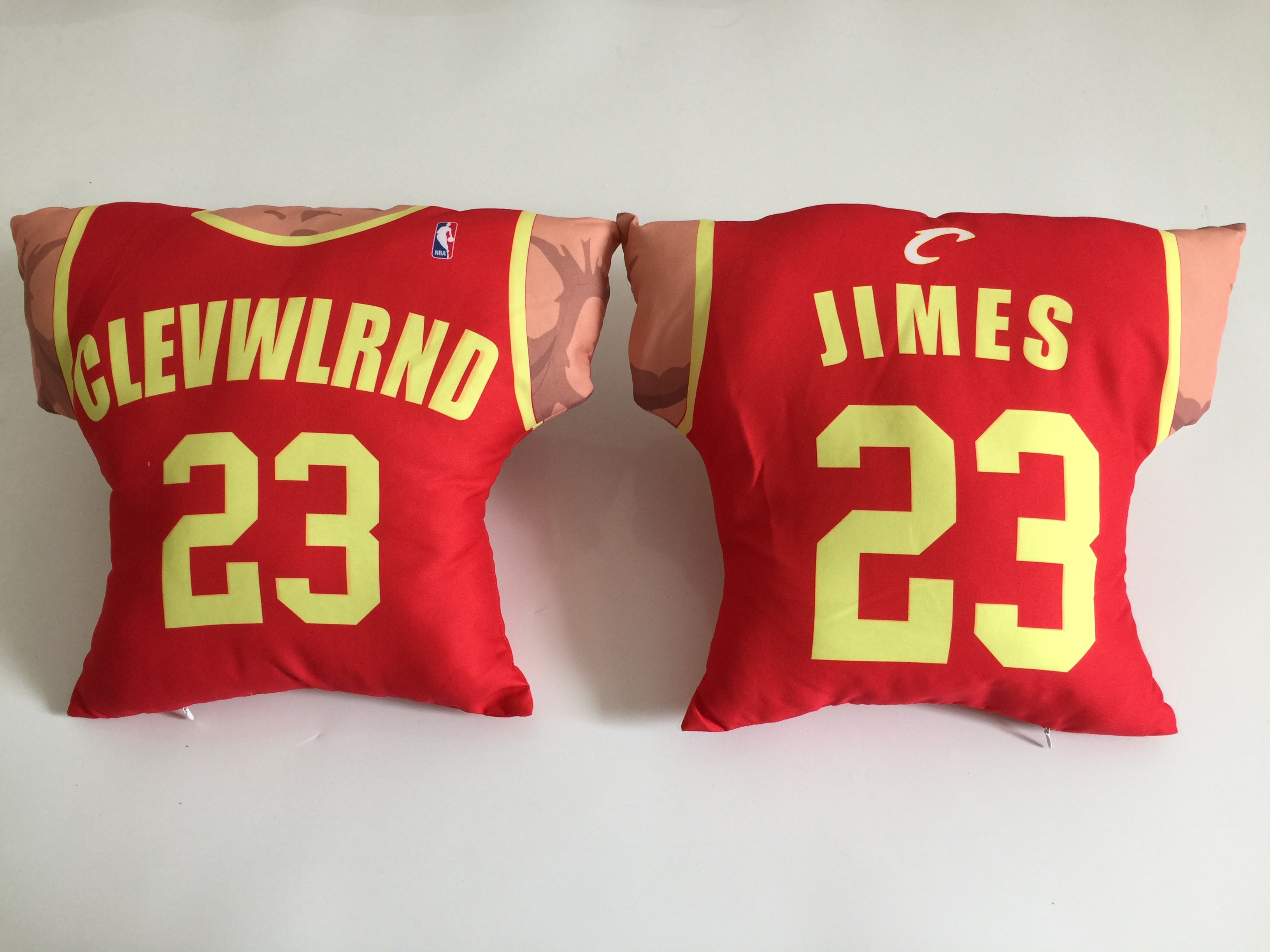 Cleveland Cavaliers 23 LeBron James Red NBA Pillow