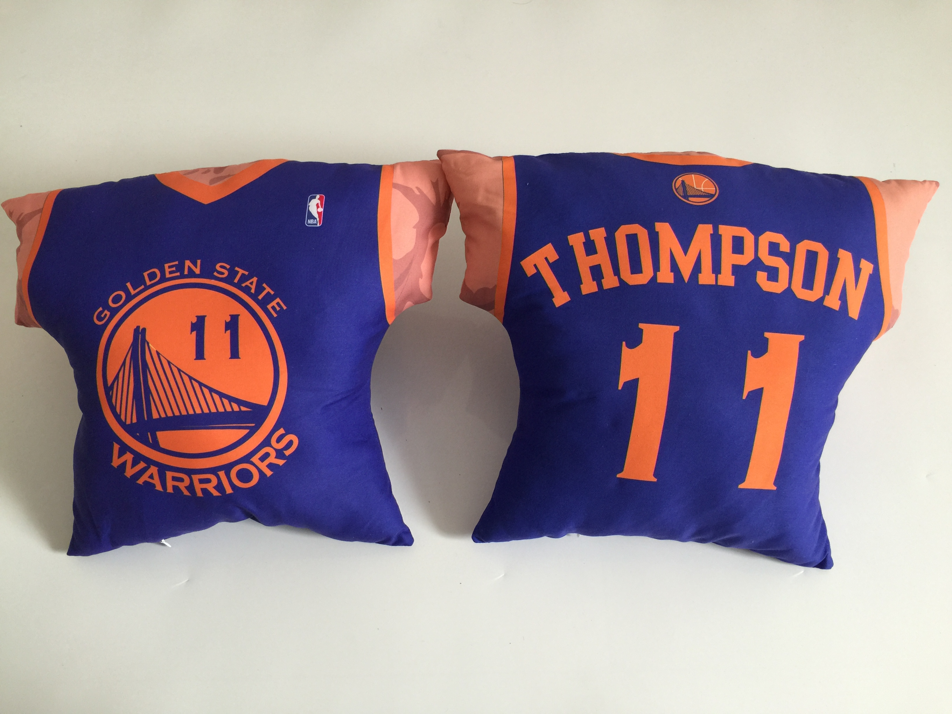 Golden State Warriors 11 Klay Thompson Royal NBA Pillow