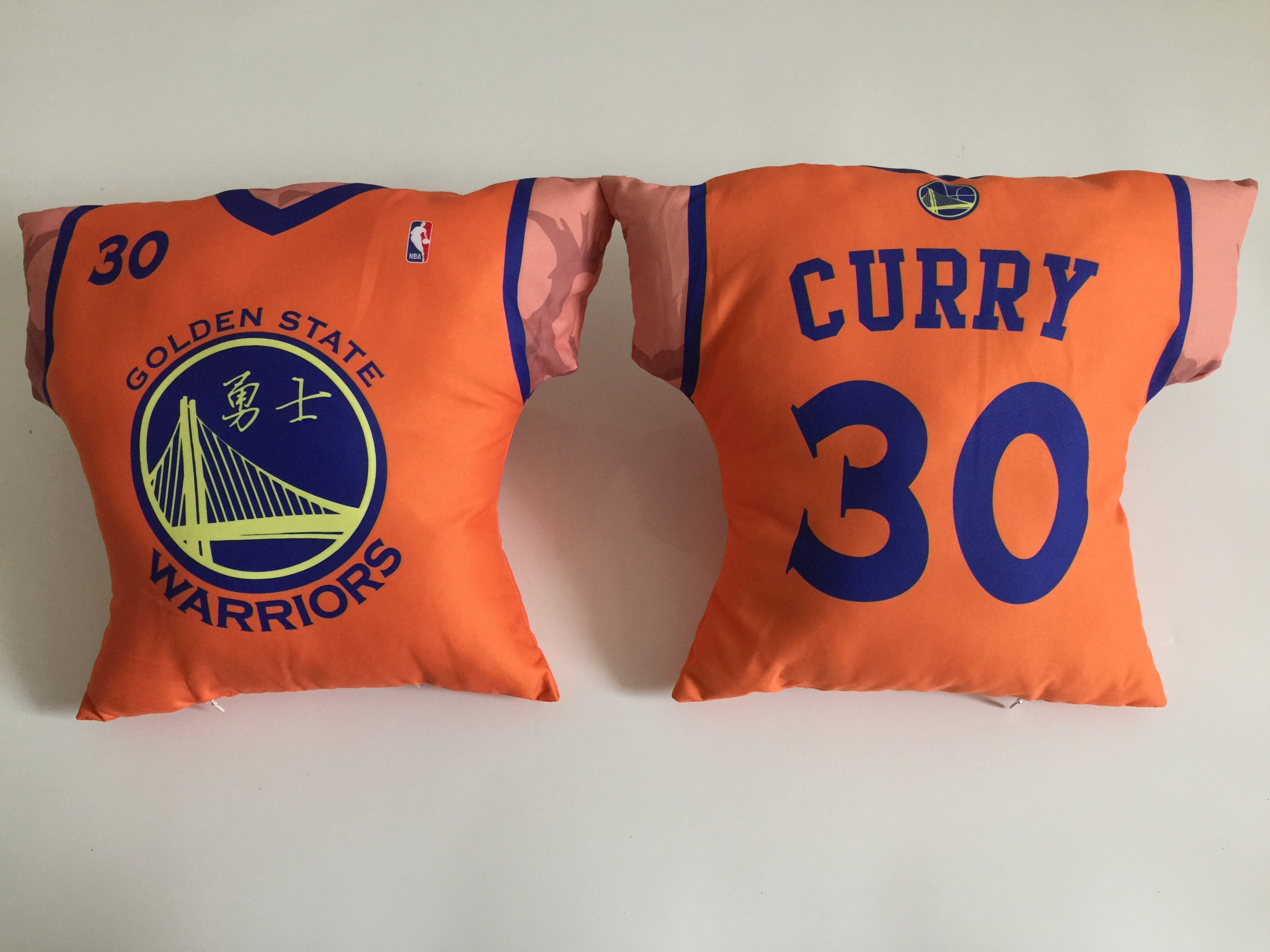 Golden State Warriors 30 Stephen Curry Orange NBA Pillow