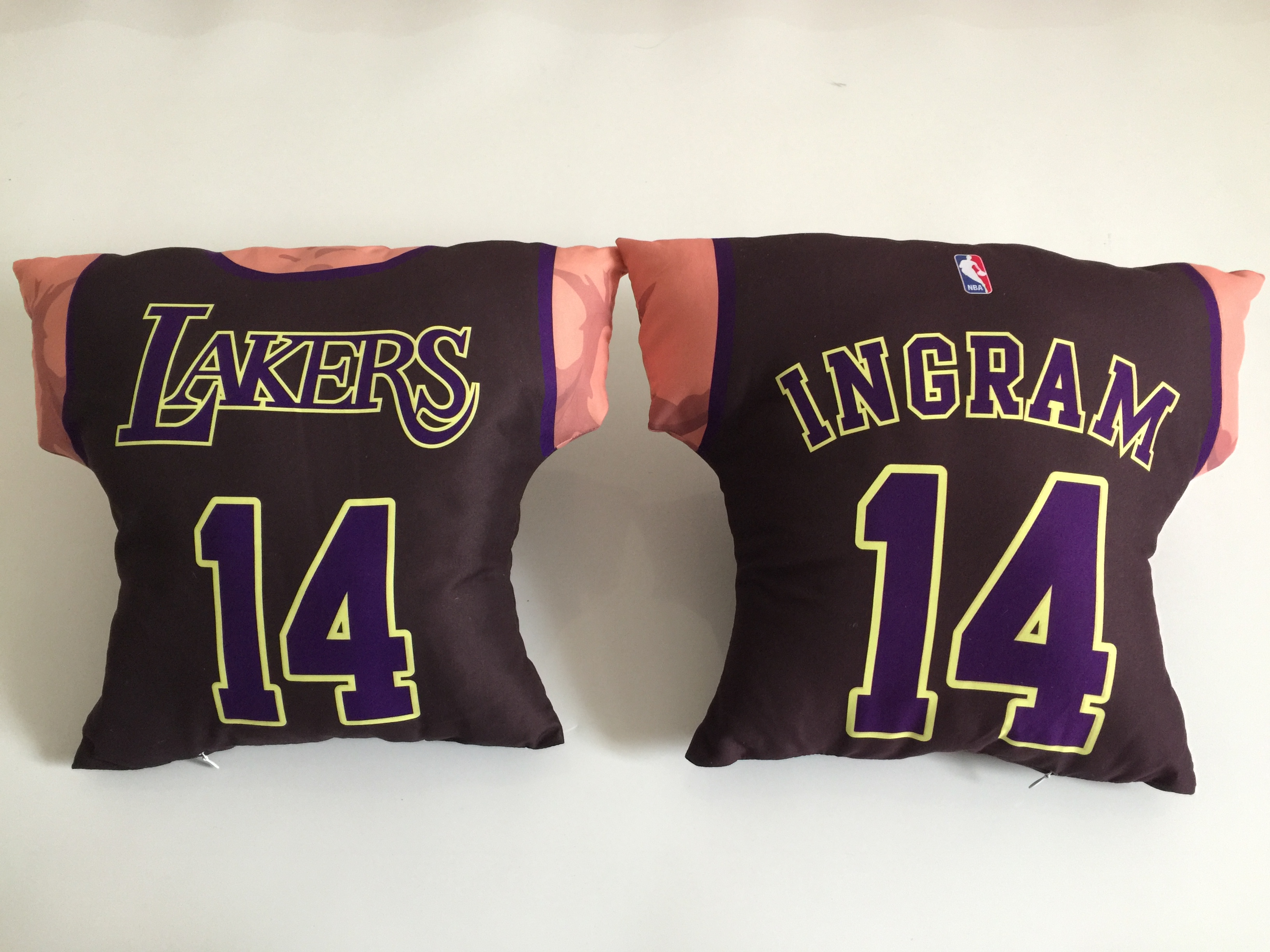 Los Angeles Lakers 14 Brandon Ingram Black NBA Pillow