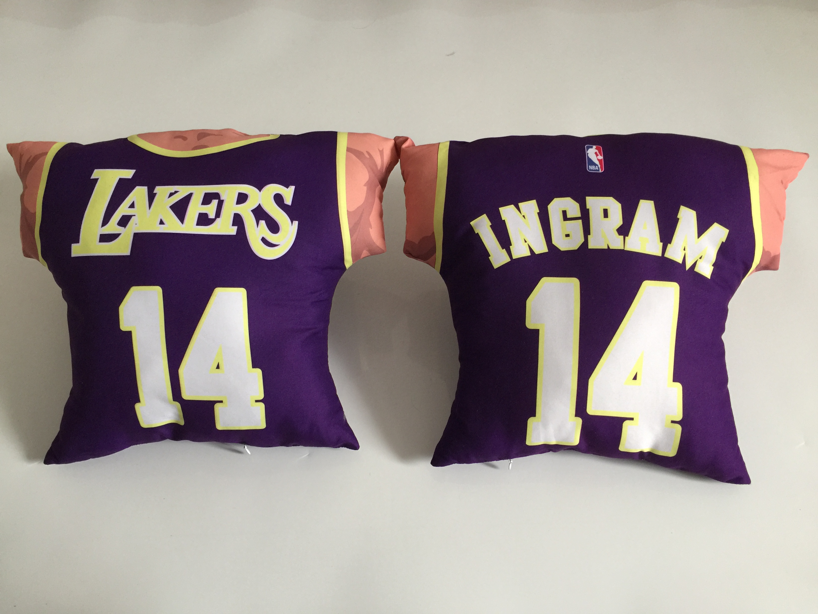Los Angeles Lakers 14 Brandon Ingram Purple NBA Pillow
