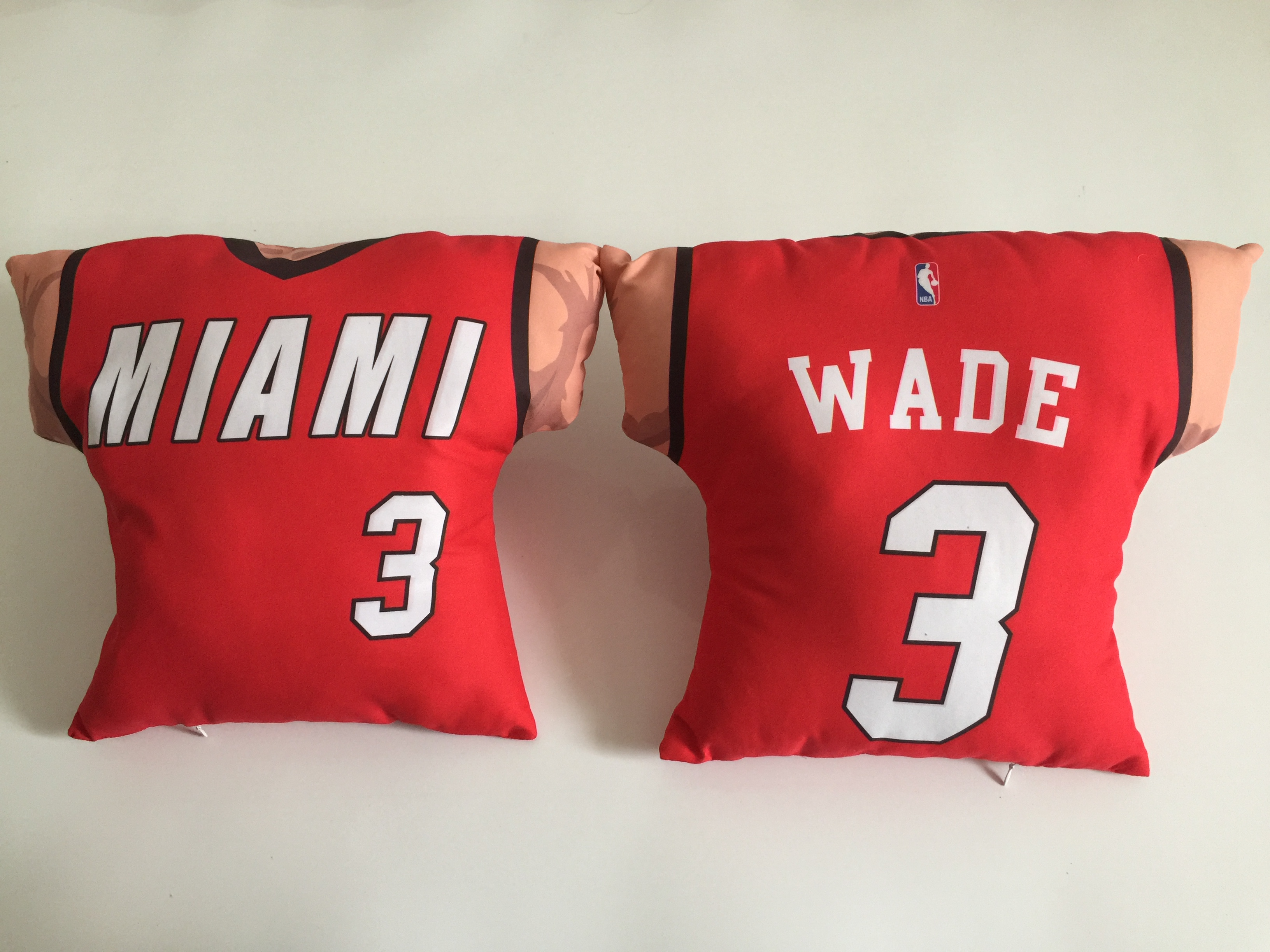 Miami Heat 3 Dwyane Wade Red NBA Pillow