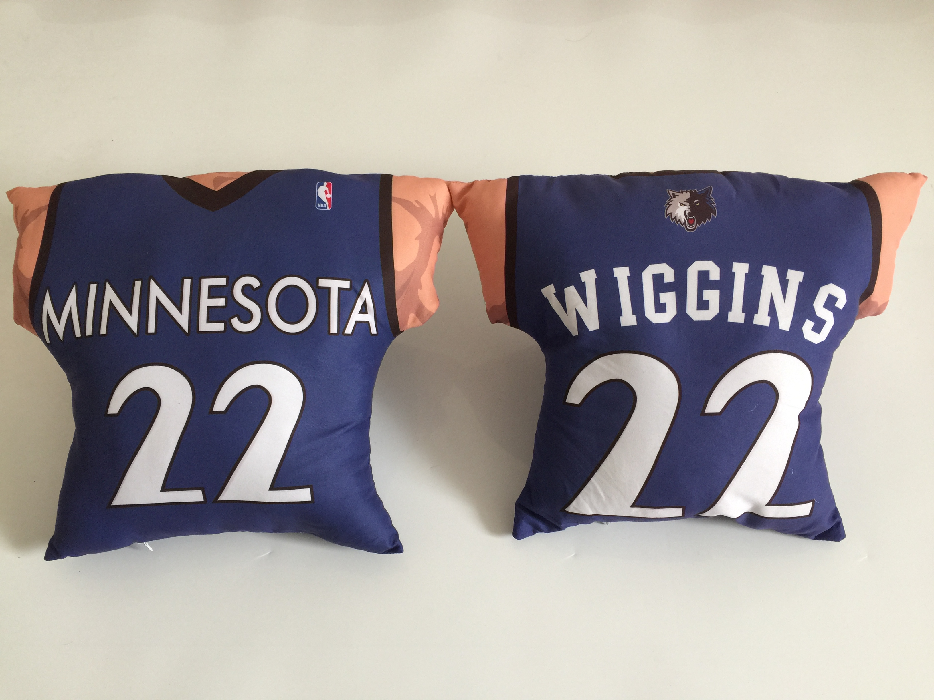 Minnesota Timberwolves 22 Andrew Wiggins Blue NBA Pillow