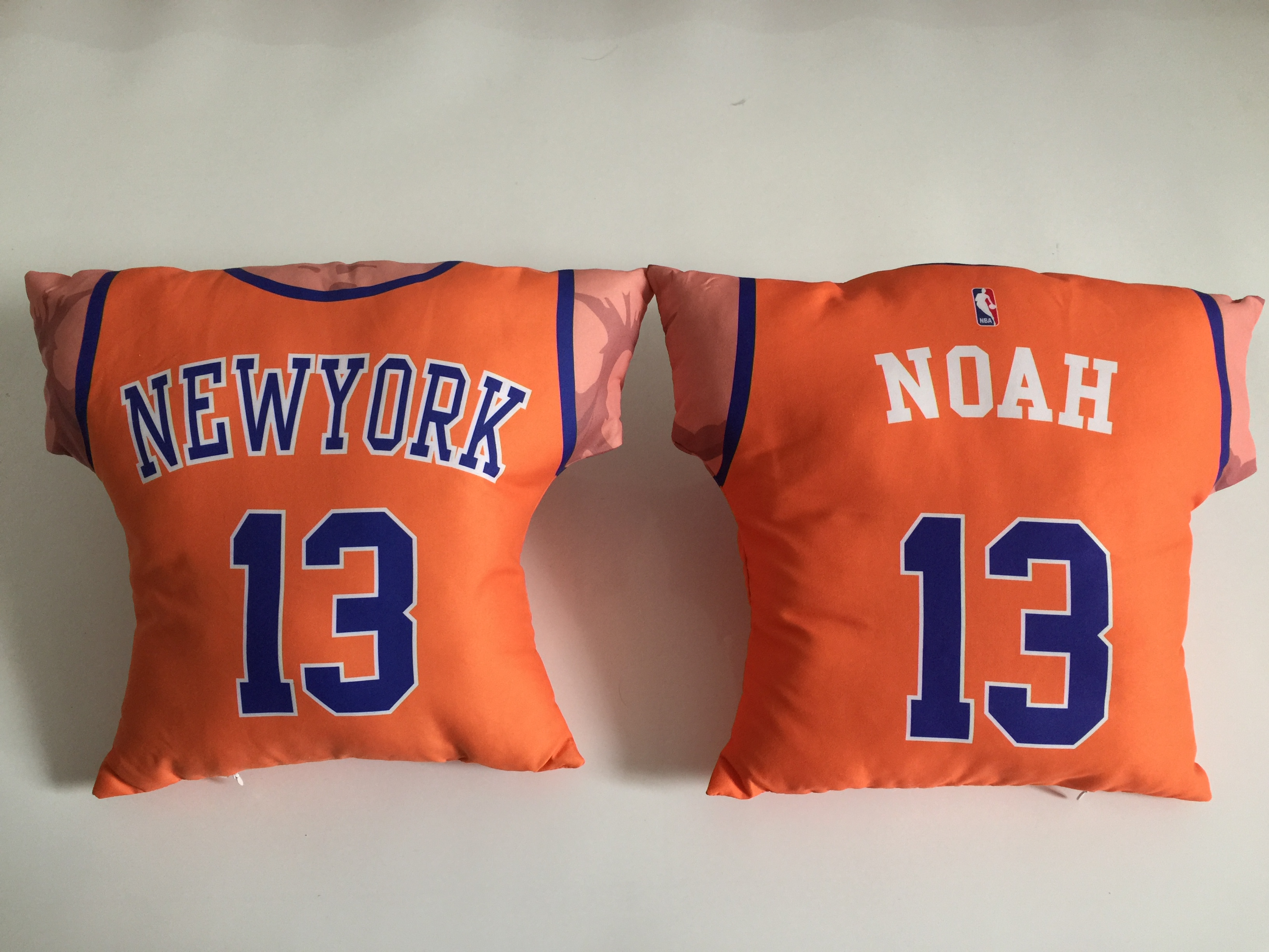 New York Knicks 13 Joakim Noah Orange NBA Pillow