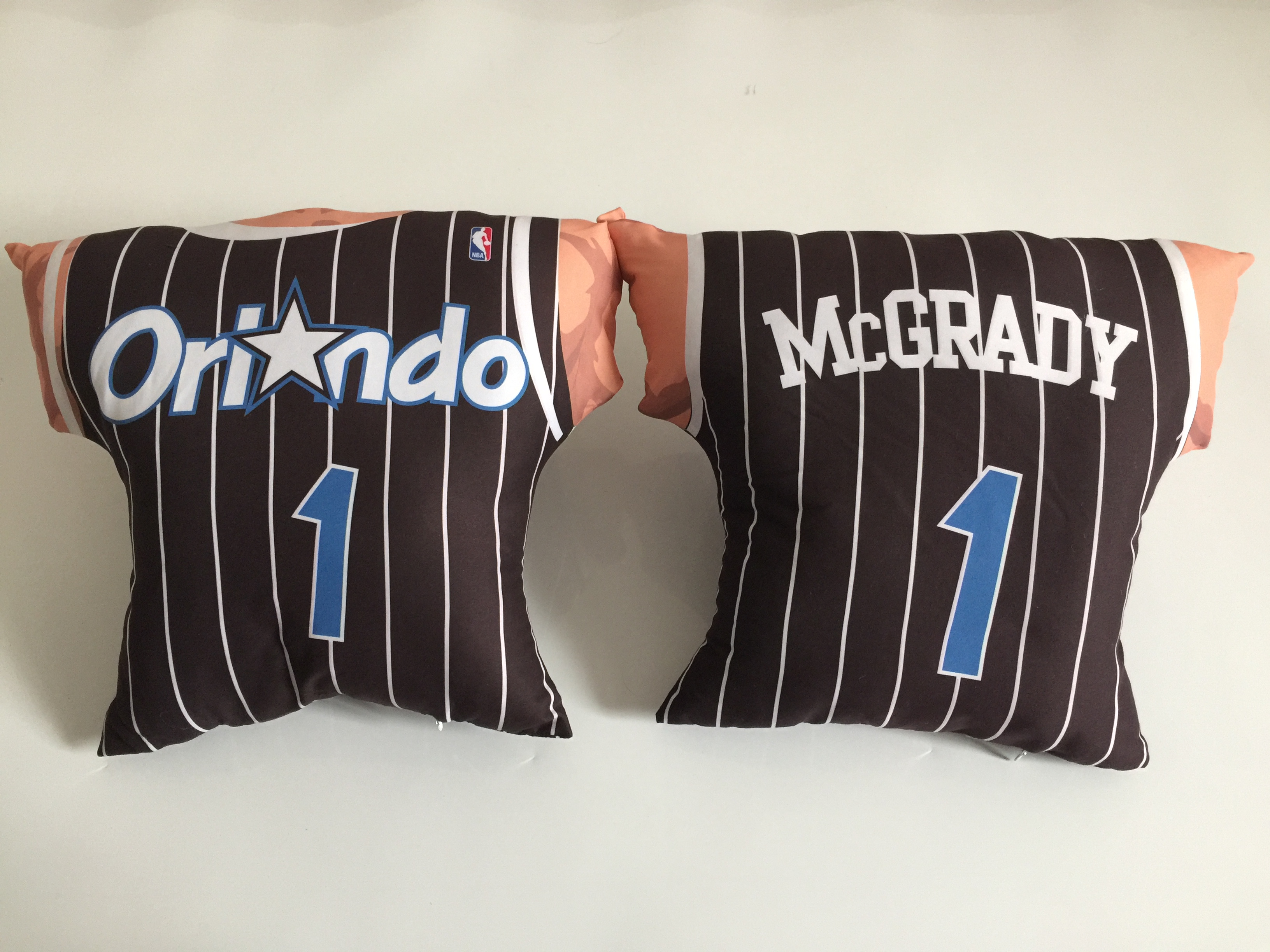 Orlando Magic 1 Tracy McGrady Black NBA Pillow