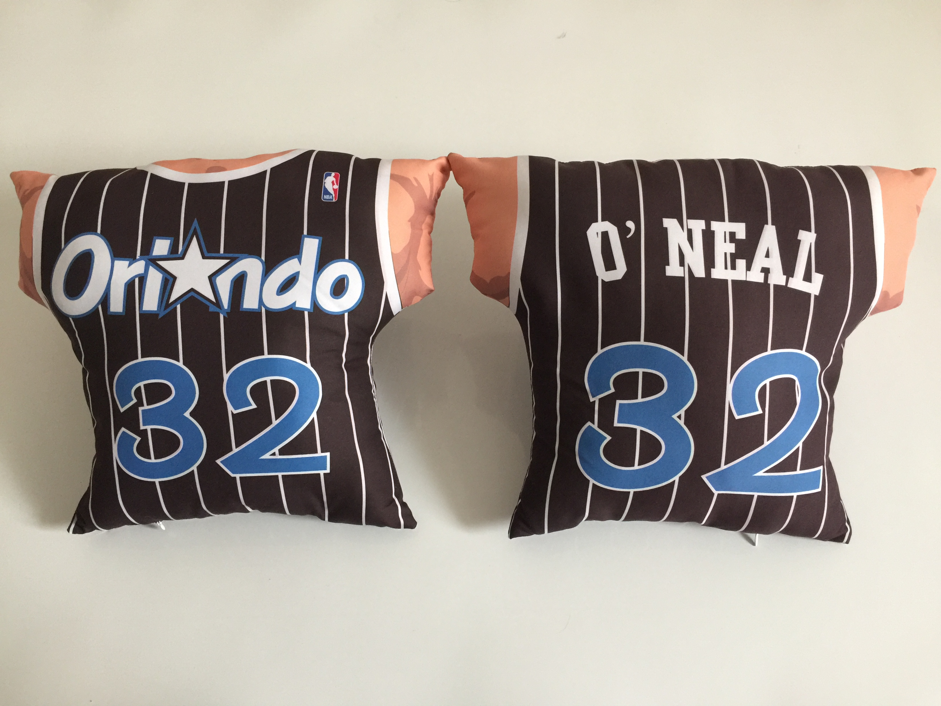 Orlando Magic 32 Shaquille O'Neal Black NBA Pillow