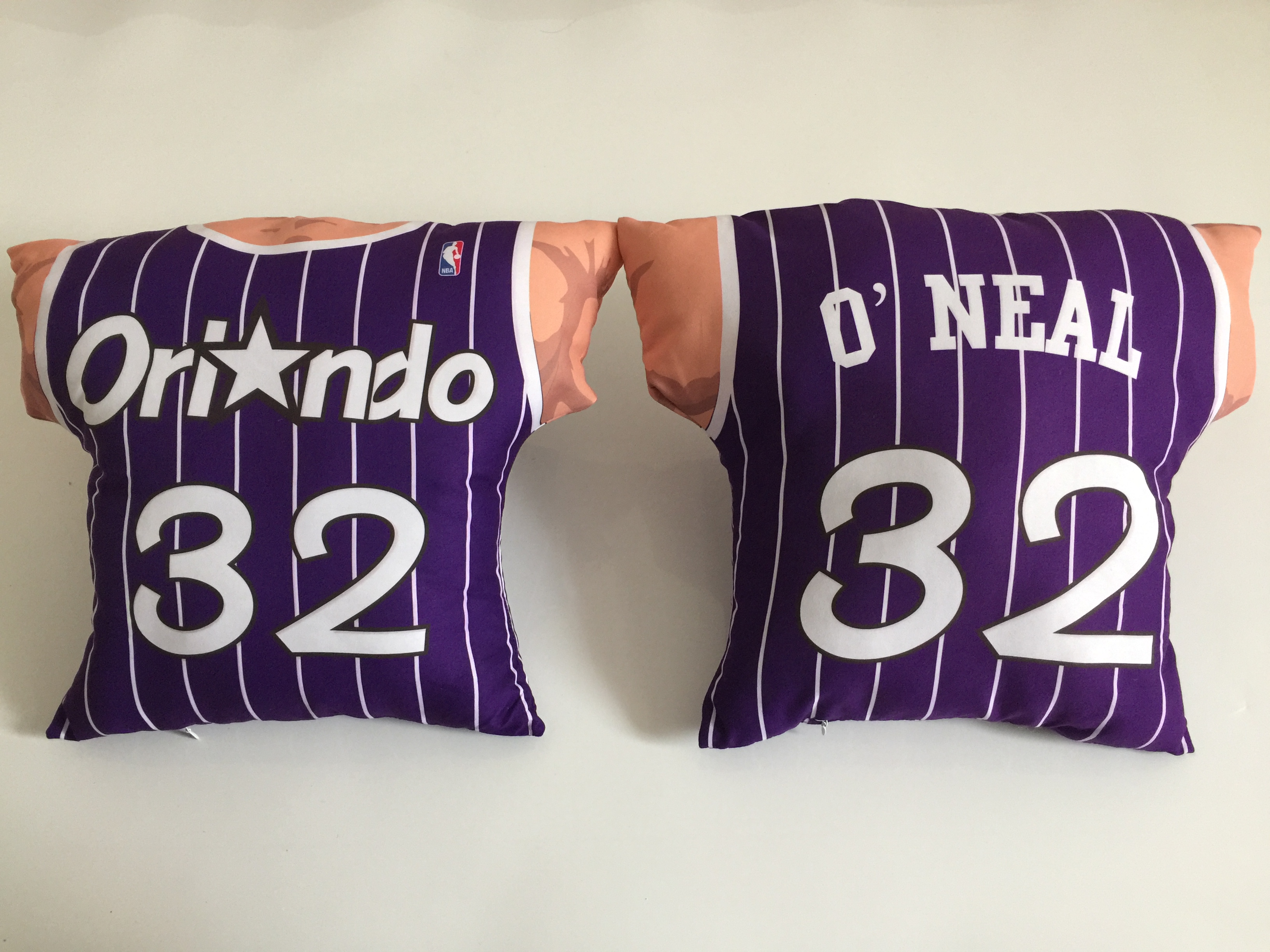 Orlando Magic 32 Shaquille O'Neal Purple NBA Pillow