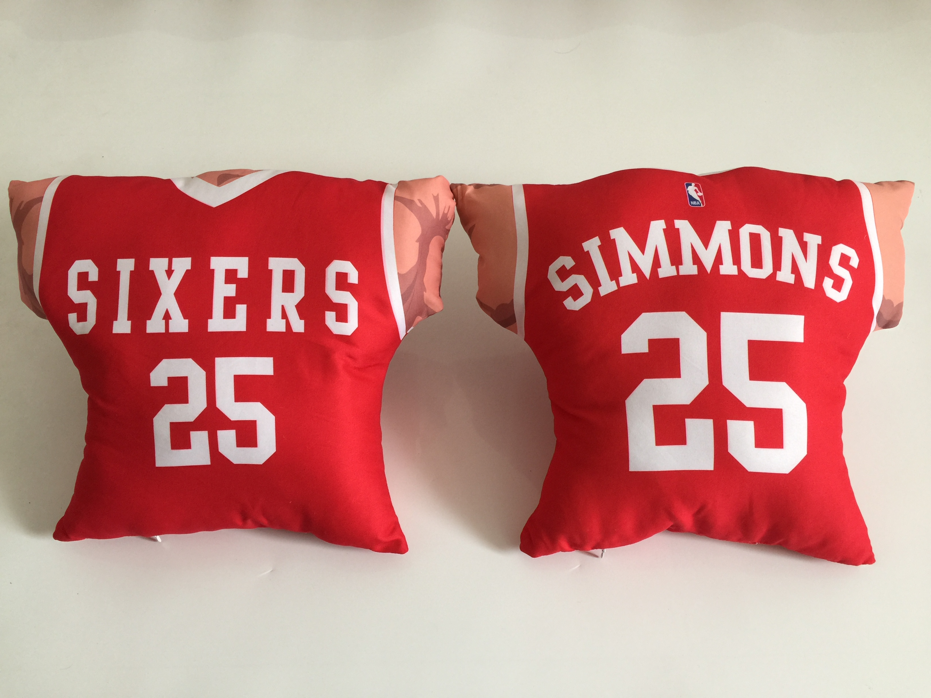 Philadelphia 76ers 25 Ben Simmons Red NBA Pillow