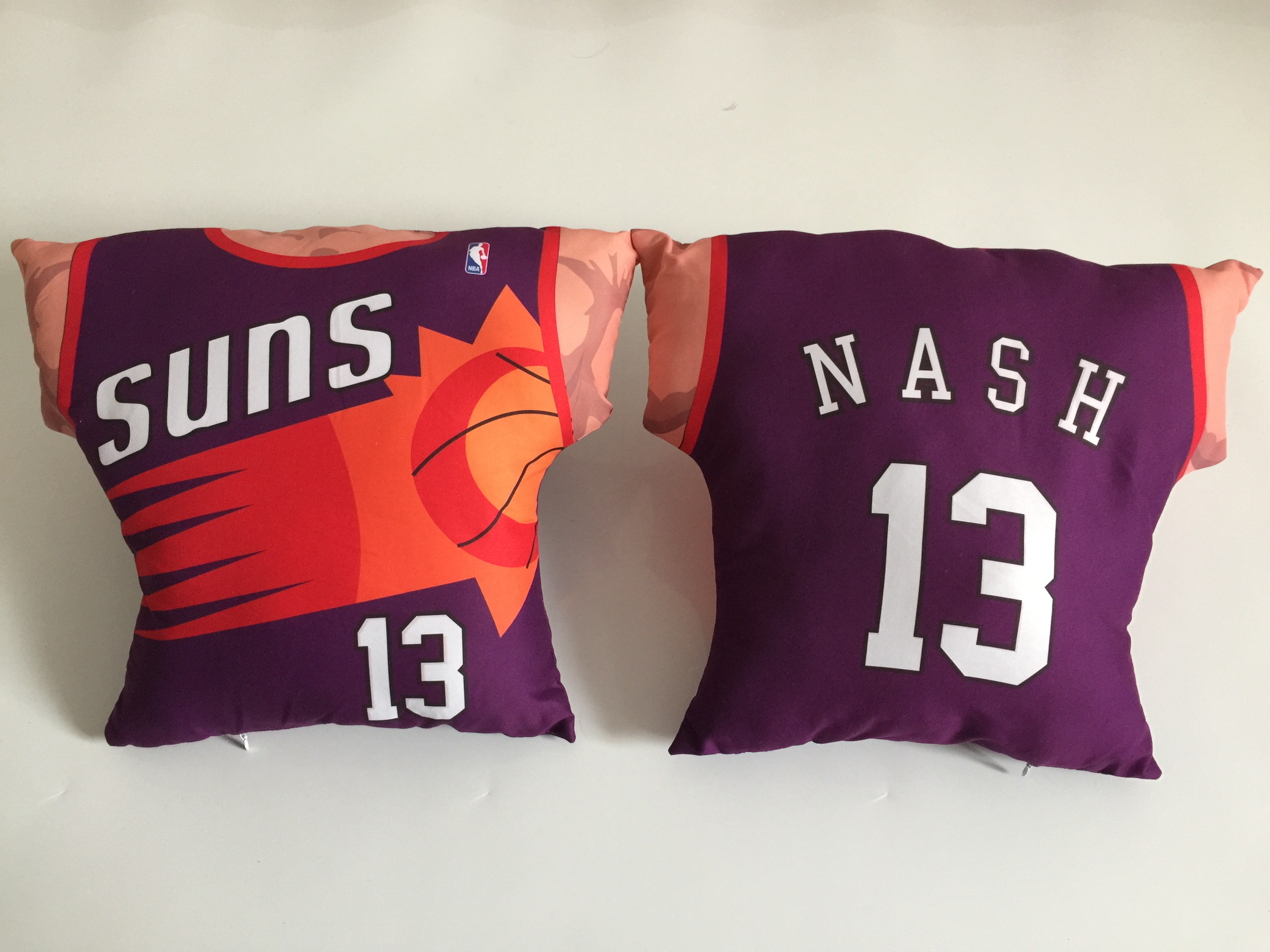 Phoenix Suns 13 Steve Nash Purple NBA Pillow