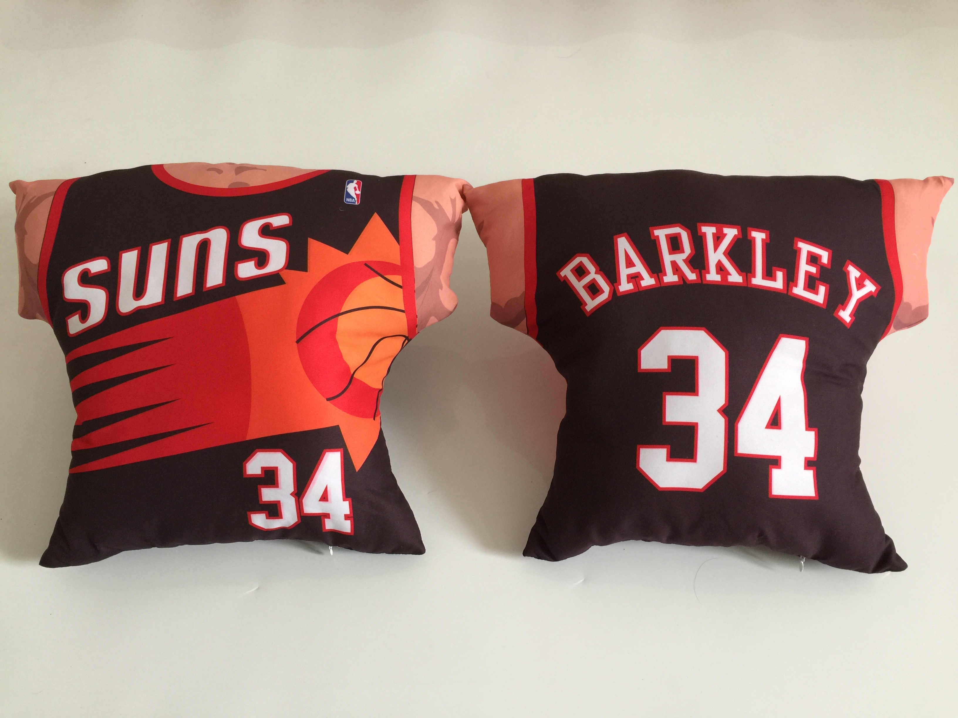 Phoenix Suns 34 Charles Barkley Black NBA Pillow
