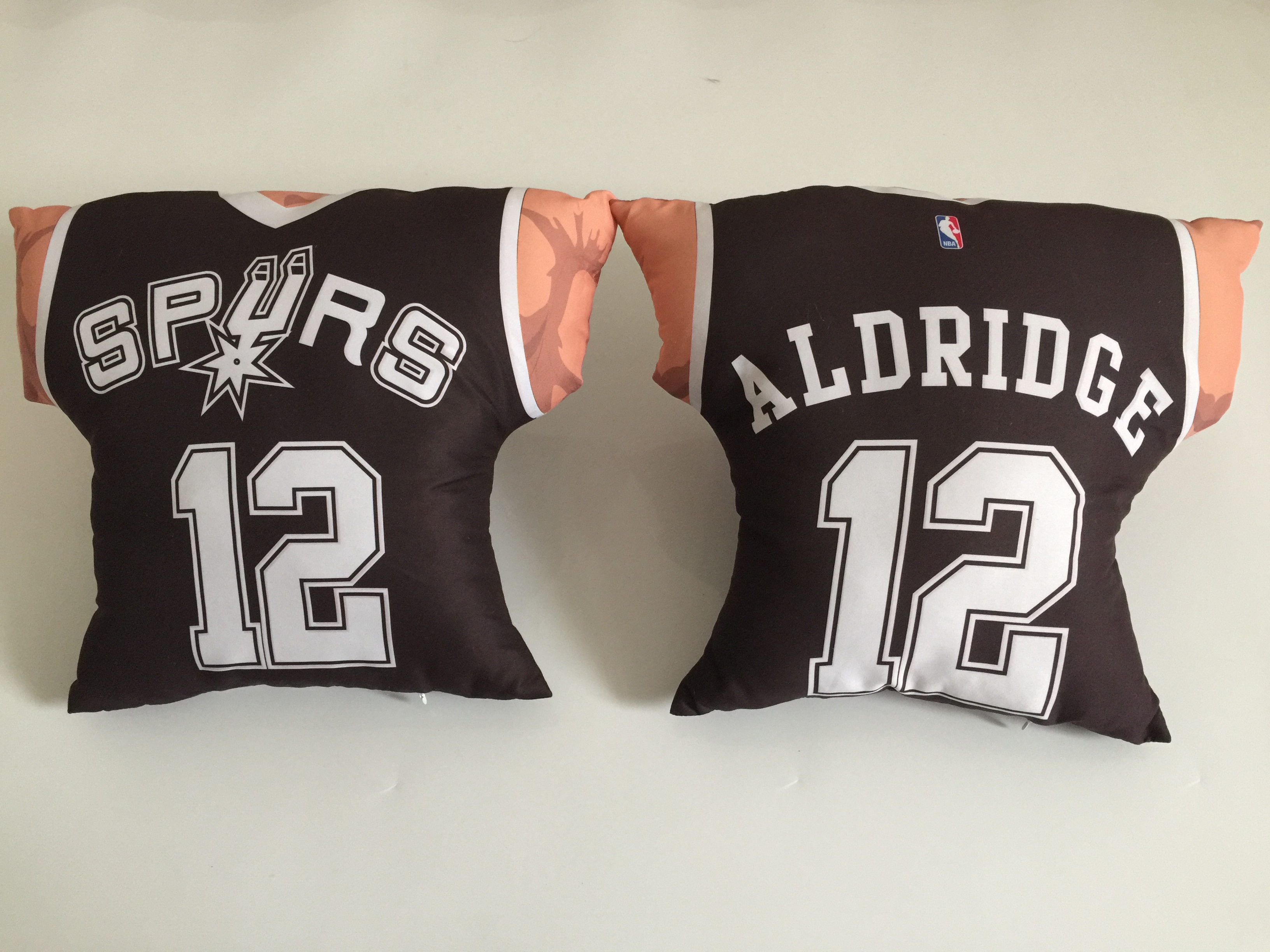San Antonio Spurs 12 LaMarcus Aldridge Black NBA Pillow