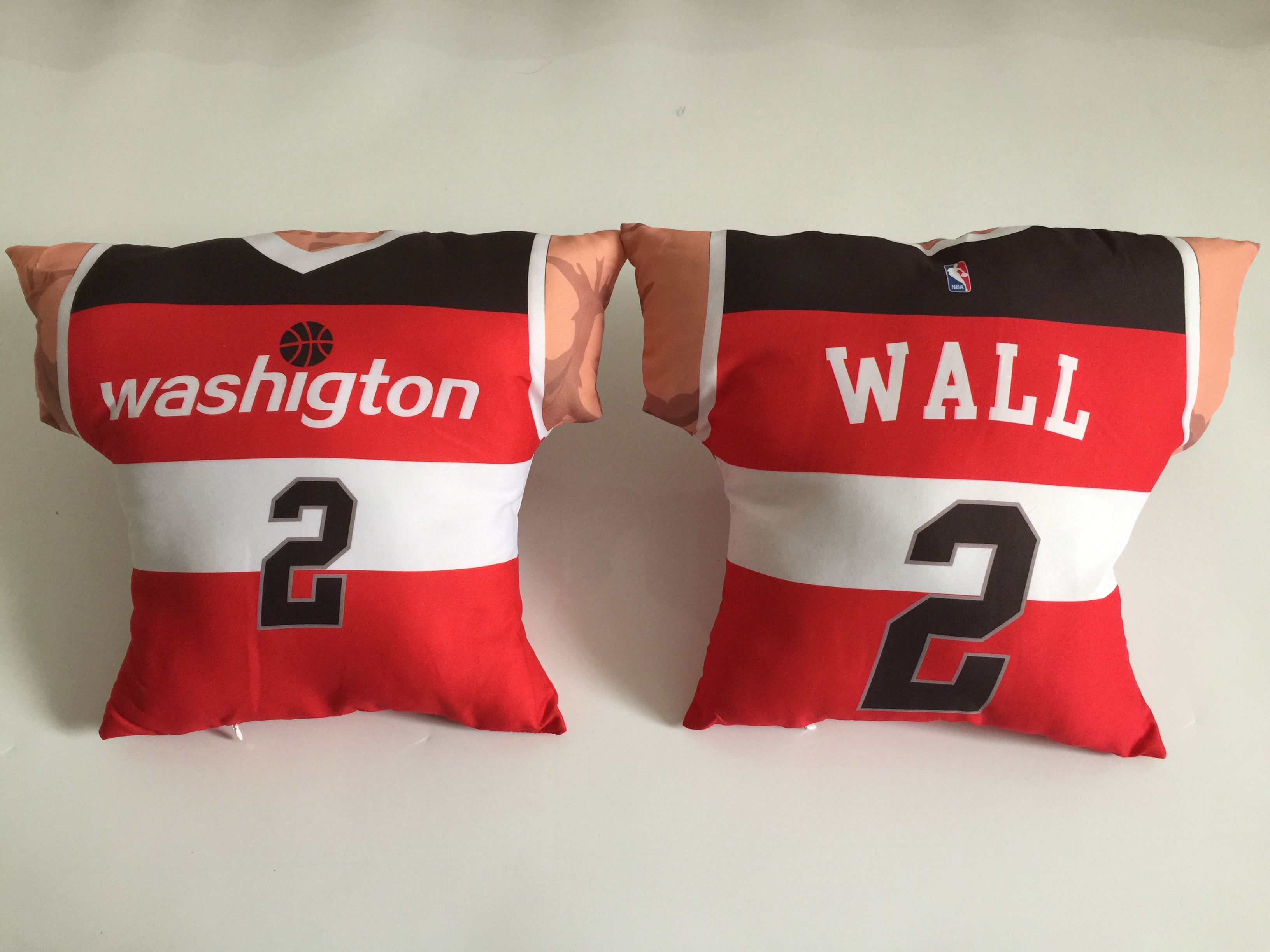 Washington Wizards 2 John Wall Red NBA Pillow