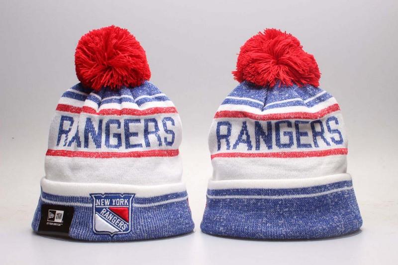 Rangers Team Logo White & Blue Knit Hat YP