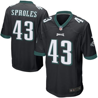 Nike Eagles 43 Darren Sproles Black Youth Game Jersey