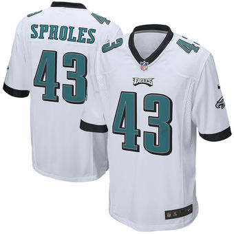 Nike Eagles 43 Darren Sproles White Youth Game Jersey