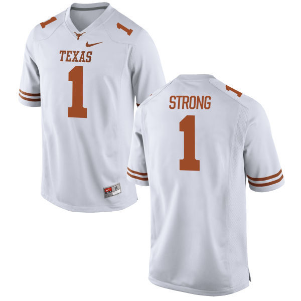 Texas Longhorns 1 Charlie Strong White Nike College Jersey