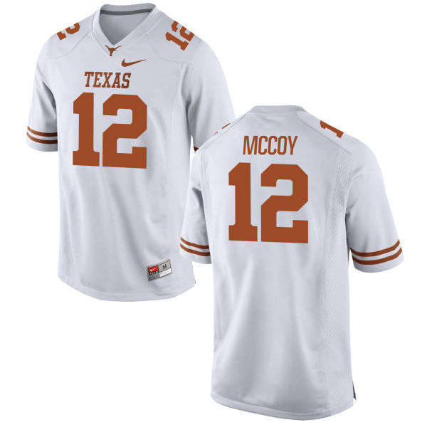 Texas Longhorns 12 Colt McCoy White Nike College Jersey