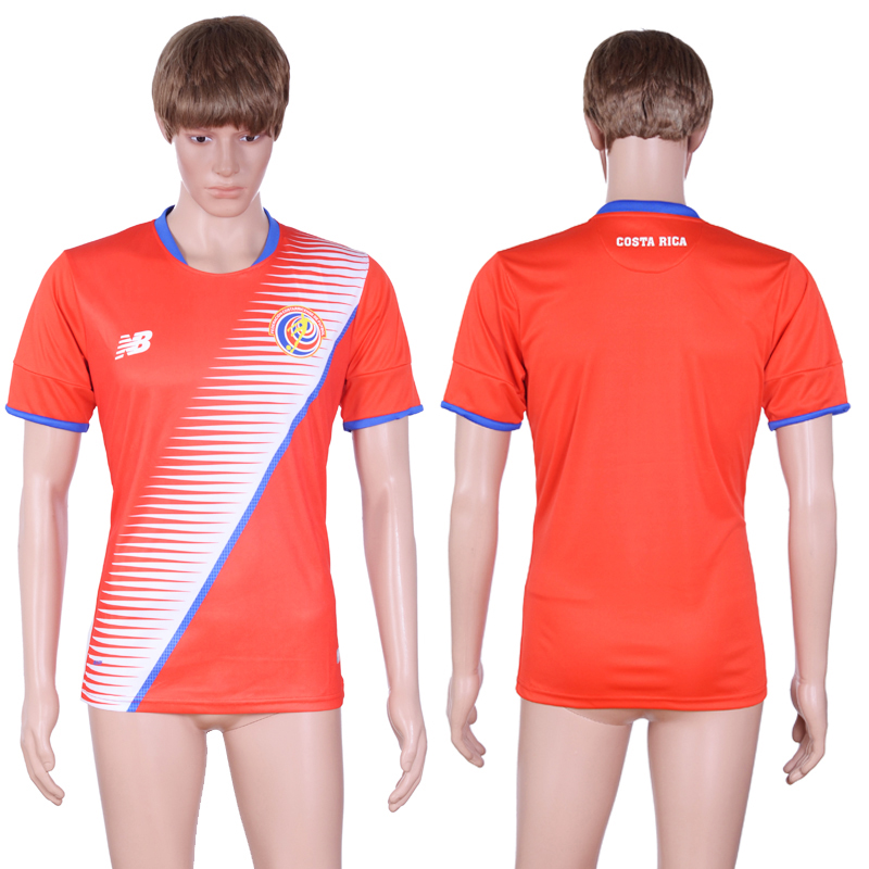 2016-17 Costa Rica Home Thailand Soccer Jersey