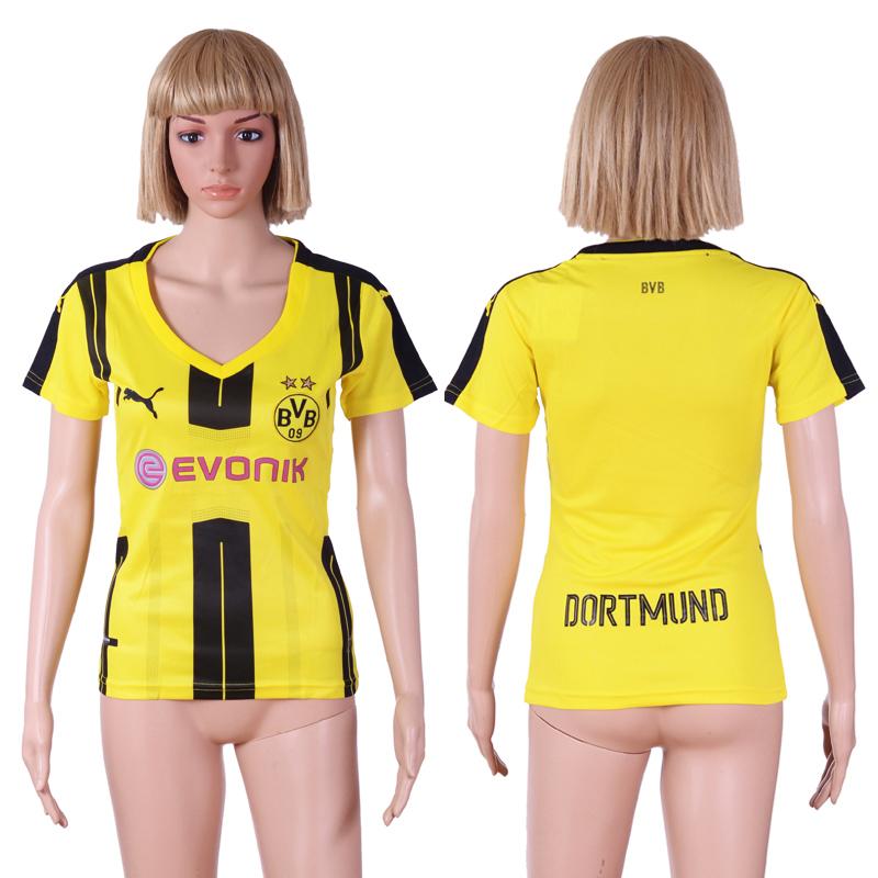 2016-17 Dortmund Home Women Soccer Jersey
