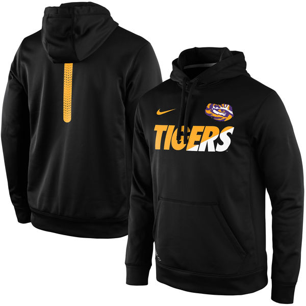 LSU Tigers Nike Sideline KO Fleece Therma FIT Performance Hoodie Black