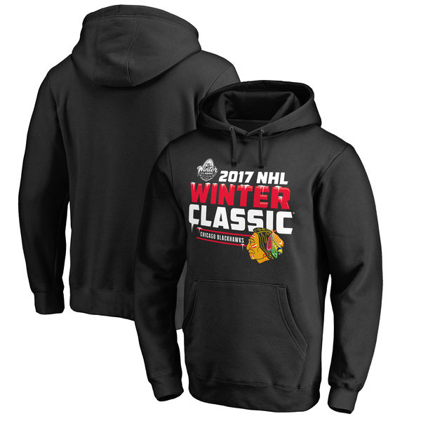 Chicago Blackhawks 2017 Winter Classic Ice Cold Pullover Hoodie Black