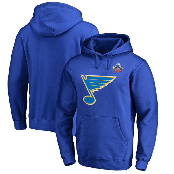 St. Louis Blues 2017 NHL Winter Classic Logo Big & Tall Pullover Hoodie Royal