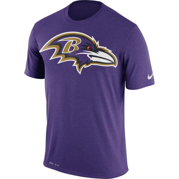 Baltimore Ravens Nike Legend Logo Essential 3 Performance T-Shirt Purple