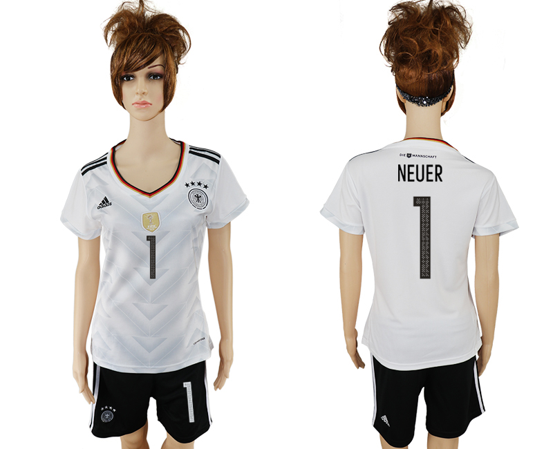 Germany 1 NEUER Home 2017 FIFA Confederations Cup Women Soccer Jersey