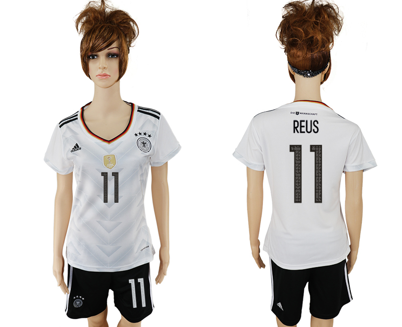 Germany 11 REUS Home 2017 FIFA Confederations Cup Women Soccer Jersey