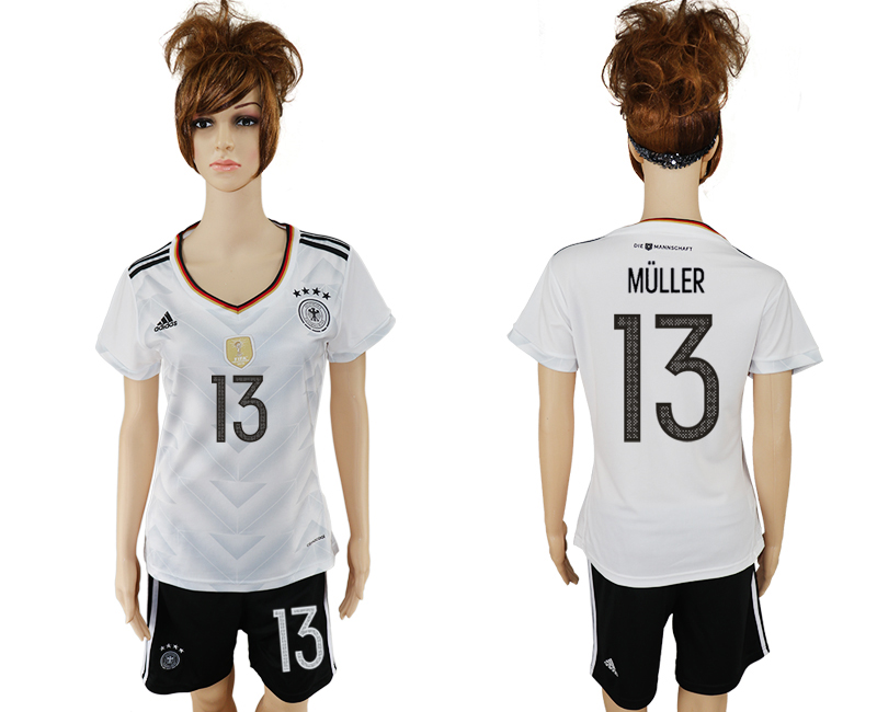 Germany 13 MULLER Home 2017 FIFA Confederations Cup Women Soccer Jersey