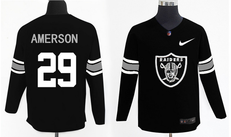 Nike Raiders 29 David Amerson Knit Sweater
