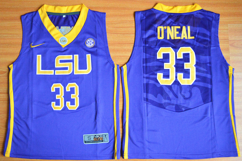 LSU Tigers 33 Shaquille O'Neal Purple Youth College Jersey