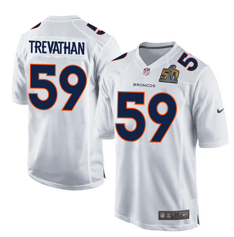 Nike Broncos 59 Danny Trevathan White Super Bowl 50 Bound Game Event Jersey