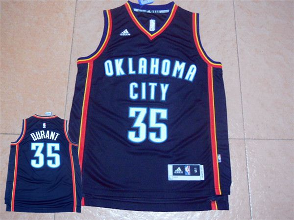 Thunder 35 Kevin Durant Black Swingman Jersey