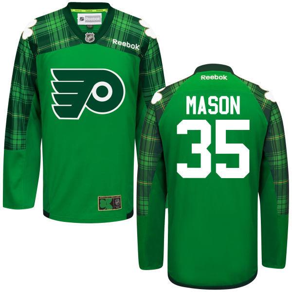 Flyers 35 Steve Mason Green St. Patrick's Day Reebok Jersey