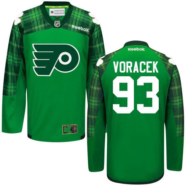 Flyers 93 Jakub Voracek Green St. Patrick's Day Reebok Jersey