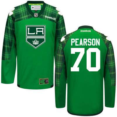 Kings 70 Tanner Pearson Green St. Patrick's Day Reebok Jersey