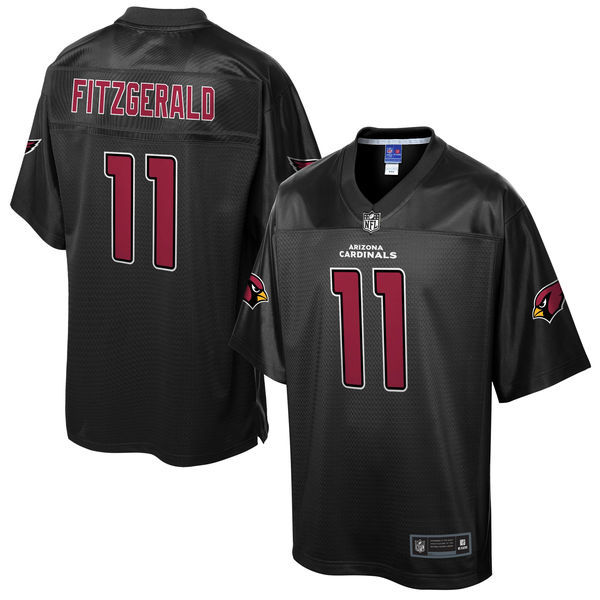Cardinals 11 Larry Fitzgerald Pro Line Black Reverse Fashion Jersey