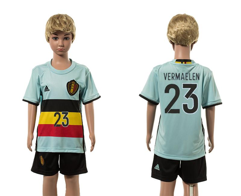 Belgium 23 VERMAELEN Away Youth UEFA Euro 2016 Jersey