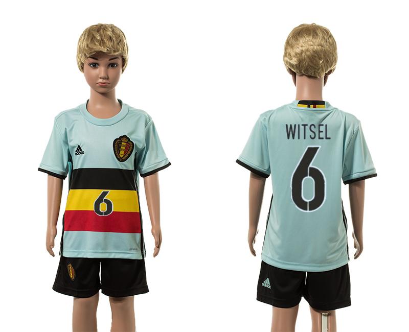 Belgium 6 WITSEL Away Youth UEFA Euro 2016 Jersey