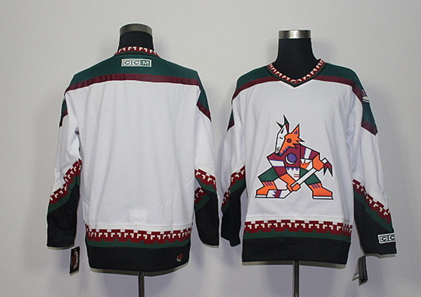 Coyotes Blank White CCM Jersey