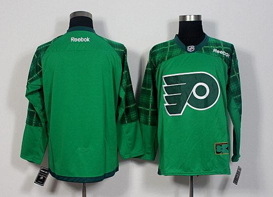 Flyers Blank Green St. Patrick's Day Reebok Jersey
