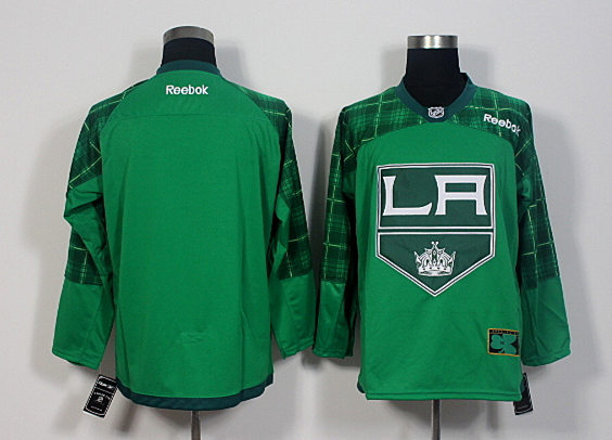 Kings Blank Green St. Patrick's Day Reebok Jersey