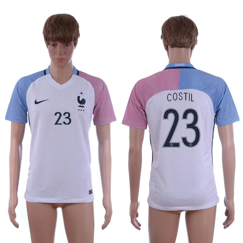 France 23 COSTIL Away UEFA Euro 2016 Thailand Soccer Jersey