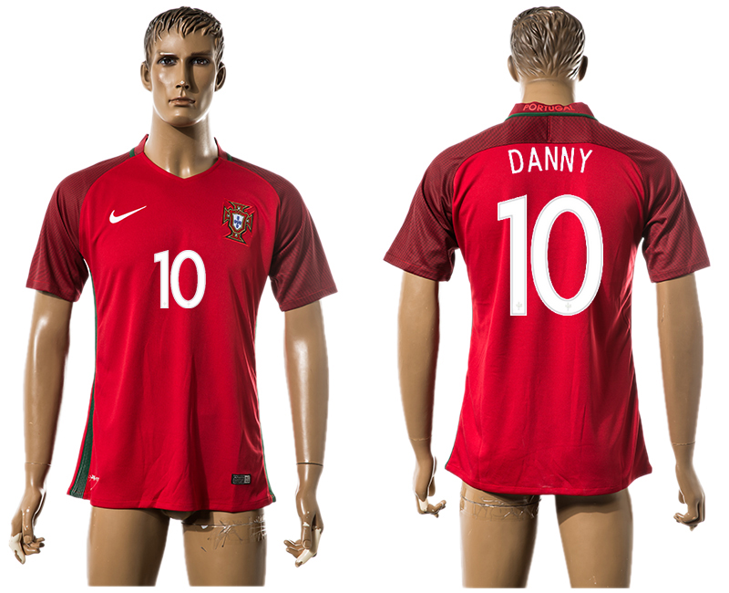 Portugal 10 DANNY Home UEFA Euro 2016 Thailand Jersey